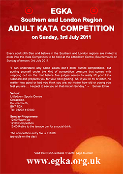 Poster for Adult Kata Competition