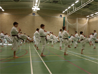 training at the 12 Quays Deember 2008 grading