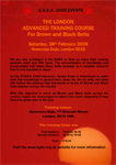 London Advanced Training Course Colour Flyer