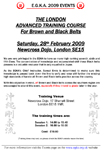 London Advanced Training Course Plain Flyer