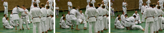 training at the Littledown Centre, Bournemouth during the summer 2009 grading weekend